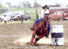 Sandy on Barski - NRCA Rodeo